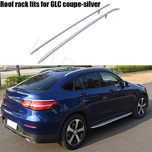 LAFENG Baca plateada para portaequipajes de techo de aleación de aluminio para Mercedes Benz GLC Coupe de 2016, 2017, 2018, 2019.