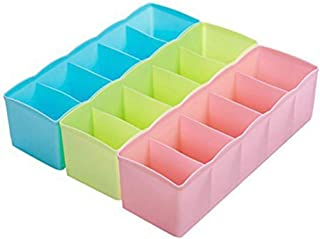 Kentop 3pcs cajón Compartimentos Caja Calcetines Corbatas