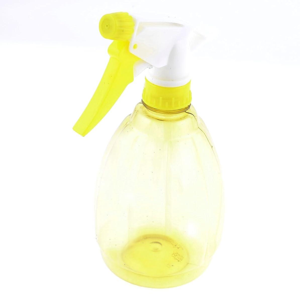 uxcell  トリガースプレーボトル ティアドロップシェイプ ホワイト イエロー プラスチック製