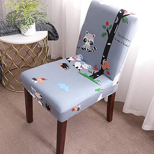 Universella stretchstolsskydd ljuslila söt avtagbart stolsskydd modernt skydd säte stol matsal överdrag skydd skydd för hotell fest bankett bröllop bukett 6/set