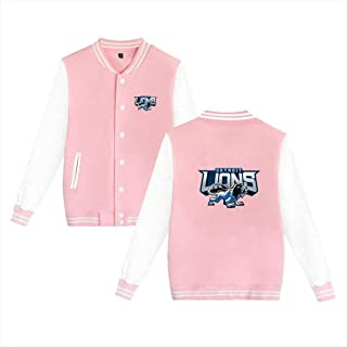 Custom Lifeing Detroit Lions Varsity Jacket Baseball Jacket Women's Bomber Coat Men's