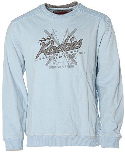 Signum Herren Rundhals Pullover -Rockies- Hellblau L