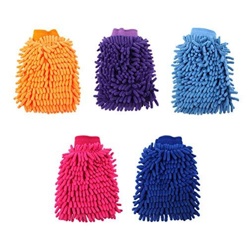 Tixiyu Manopla de lavado de coche – Guante de microfibra de tamaño grande para limpieza de coche, herramientas de chenilla premium sin arañazos, guantes de lavado de coche, kit de accesorios