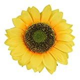 Colorfulife Artificial Silk 10' Big Sunflower Flower Head for DIY Wedding Home Party Decoration Hair Clip Wreath Decorative (2)