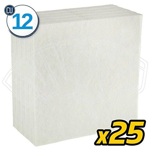 25unidades-CU12-Cartones filtrantes universales -1,5micrones-20x 20cm, para vino y mosto