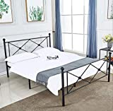 <span class='highlight'><span class='highlight'>LANKOU</span></span> Valentina Double Metal Bed Frame.Platform Bed .Mattress Foundation with Headboard Bedroom Furniture, UPS Delivery,One Years Warranty (Double Vintage Bed)