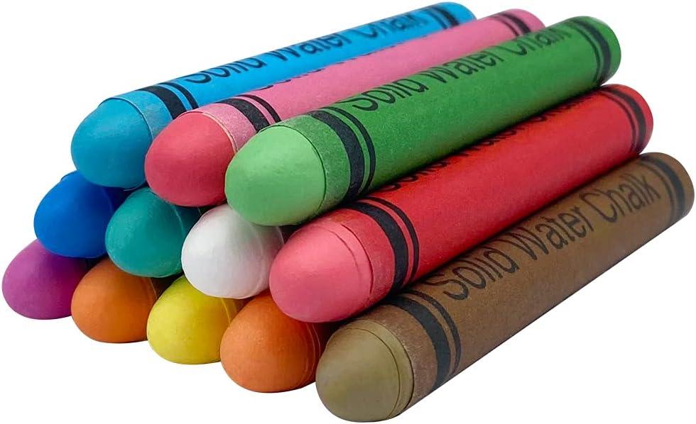 USELUCK Non-toxic Dustless Chalk for Kids Washable Chalk Art Tool for Blackboard Kids Children Drawing Writing,12PCS