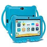Xgody Kids Edition Tablet, 7-Zoll-HD, Kindersicherung,Für die Internet Cloud Klasse,Android 8.1 GMS, 16 GB, Quad Core, Blau kindgerechte Hülle