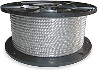 Dayton 2TAF6 - Cable 3/8 in L250Ft WLL2880Lb 7x19 Steel