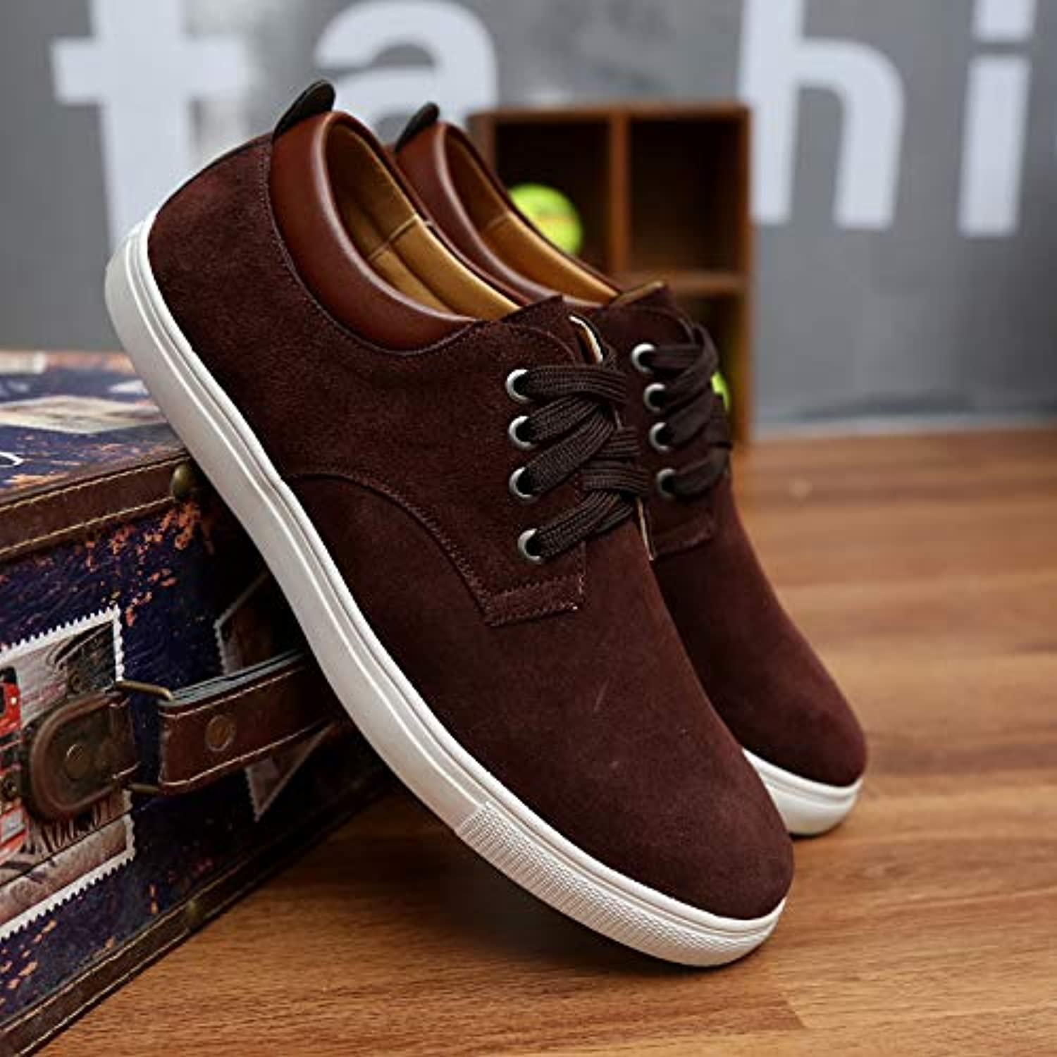 LOVDRAM Casual shoes Casual shoes Casual shoes Pu Suede shoes 45 Single shoes 46 Men'S shoes 48 Extra Large 48 49 Yards