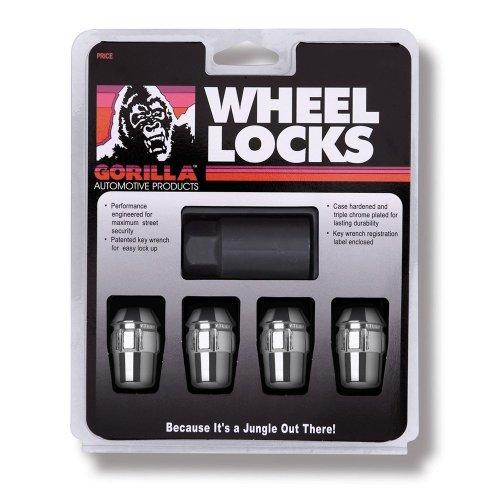 "Gorilla Automotive 71681N Acorn Wheel Locks (1/2"" Thread Size) - Pack of 4"
