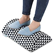 Under Desk Ergonomic Footrest Plus – Foam Foot Rest for Circulation and Comfort with Hook and Loop-Fasten Fabric – Office Essentials Footstool for Men and Women by Dr.Cushions, 4x11x17.5 in.