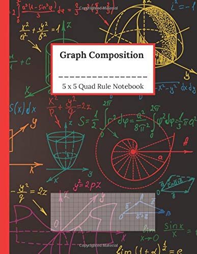 Graph Paper Composition Notebook: Mathematics and Sciences Notebook 1 4 Inch Squares Quadrille Ruled 5x5 Grid Paper, Colorful Chalkboard Style Cover
