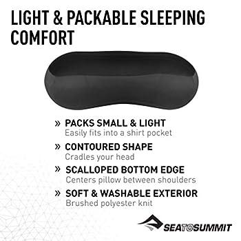 Sea to Summit Aeros Premium Pillow Regular 571 Oreiller de Voyage Gris Taille Normale 35 x 26 x 13 cm