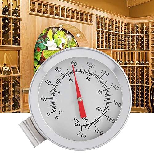 FILFEEL Kessel Clip auf Zifferblatt Thermometer Home Brew Wein Bier Thermometer Ziffernthermometer Homebrewing Brew Kettle Brew Pot