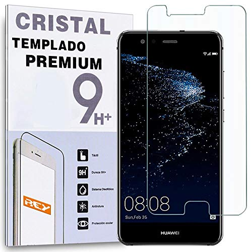 REY Protector de Pantalla para Huawei P10, Cristal Vidrio Templado Premium