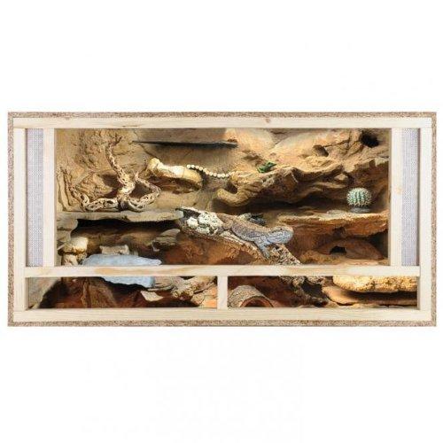 REPITERRA Terrarium aus Holz 120x60x60 cm mit Frontbelüftung aus OSB Platten mit Floatglas