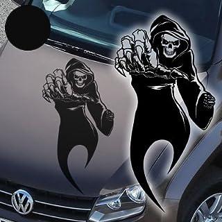 A765 Autoaufkleber 'Reaper' Skull 60cm x 31cm schwarz (erhältlich in 49 Farben und 4 Größen)