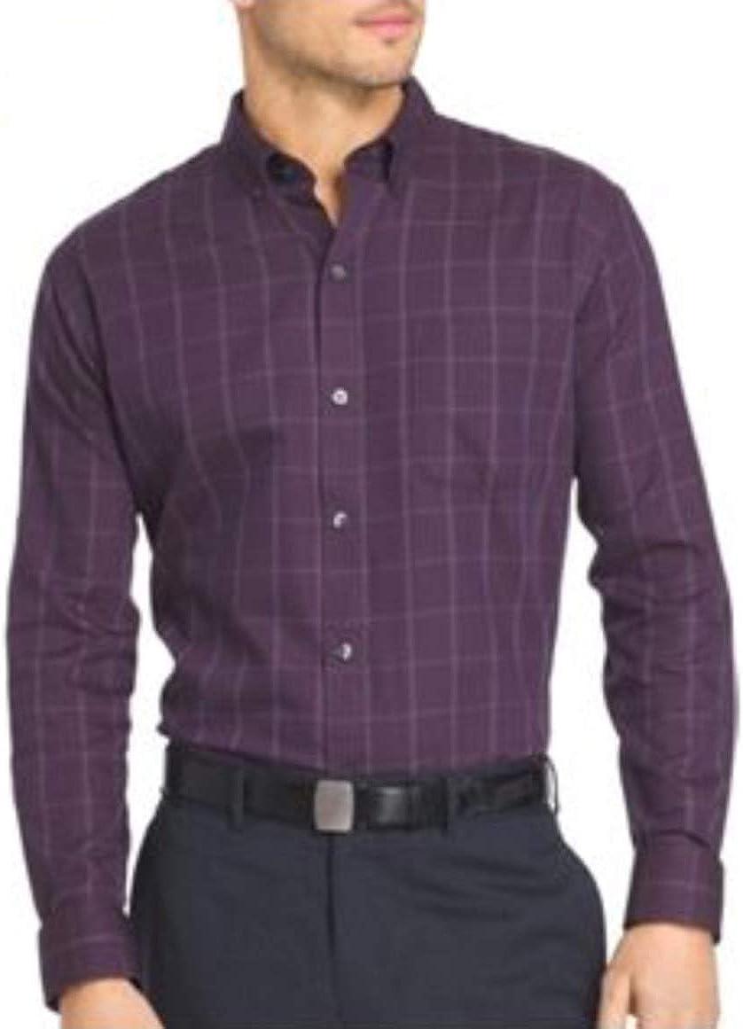 Van Heusen Men's Big & Tall Grid Woven Button-Down Shirt