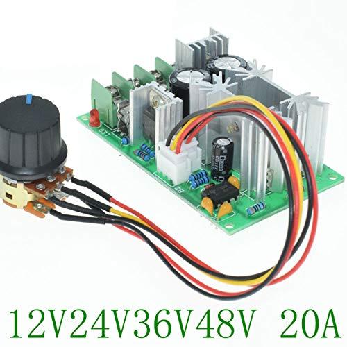 PWM motortoerentalregelaar traploze toerentalverandering van de gelijkstroommotor/impulsbreedte-motortoerentalschakelaar 12 V 24 V 60 V toerentalregelaar/module 20 A