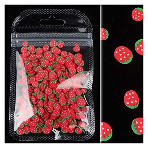 without logo AFTWLKJ 1 Sac coloré tranches Petit Fruit 3D Paillettes for Ongles DIY Conception Acrylique Beauté Argile polymère Nail Art Accessoires (Color : CM)