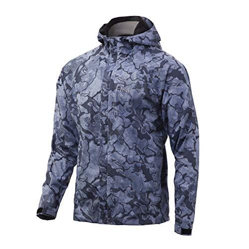 HUK Gunwale Rain Jacket | Water & Wind Proof Jacket, Erie, Large