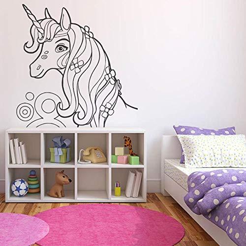 yaonuli Muurtattoo meisjes slaapkamer babykamer hoofddecoratie cartoon vinyl muursticker