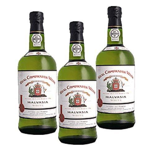 Vino de Oporto Real Companhia Velha Malvasia Blanco - Vino Fortificado- 3 Botellas