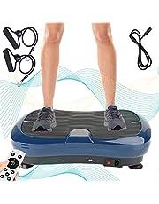 Triclicks Ultra Slim Fitness Power Trilplaat,Vibration Plate, Vibratietrainer,Vibration Shaper Plat,Bluetooth Speaker + Afstandsbediening + 2 Loopbanden + 180 niveaus   Fitness Training thuis