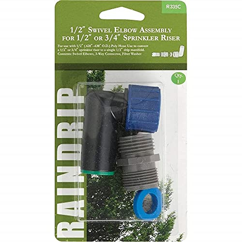 Raindrip R335ct 1/5,1 cm Coude pivotant assemblée