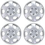 """BDK KT-1015-15 AMZKING KT-1015- AMZKING Silver Hubcaps Wheel Covers for Toyota Corolla 15"""""""