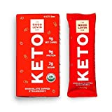The Good Lovin' Keto Bar - Certified Organic - Low Carb, Low Sugar, High Healthy Fats with Plant...