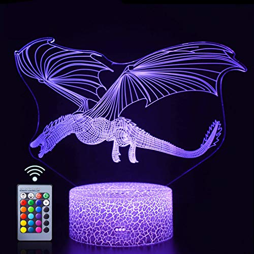Seven Lady Dragon 3D Night Lamp