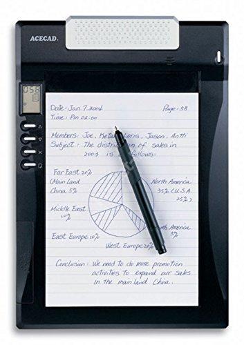 A5 DigiMemo A501, ACECAD Digital Notepad DIN-A5 Format mit internem Speicher und digitaler Kugelschreiber (DigiPen P100), inkl. USB-Kabel und Software #488