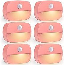 Mefeny 6-Pack Automatische Bewegingssensor LED Nachtverlichting, Stick op overal Batterij Aangedreven Licht voor Kinderen,...