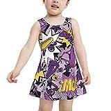 RQKTAKEJOK Bañadores Roller Skate Traje de baño para niñas pequeñas Vestido de baño de Secado rápido El Traje de baño es Adecuado para niñas de 2 a 6 años