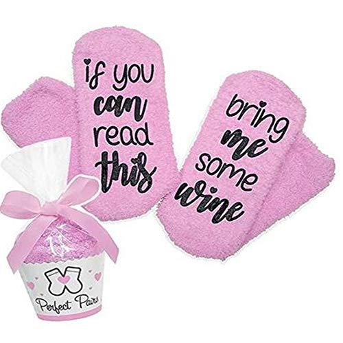 Wein-Socken/Kaffee-Socken, lustig Geschenk zum Weihnachten für Frauen witzig Geburtstagsgeschenk für Freundin, Coffee, für Freundin, Mama,Oma, Schwester