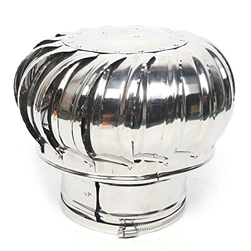OUKANING Parte Superior de la Chimenea de 160 mm Campana de Chimenea de Acero Inoxidable Ventilador de Techo Ventilación Parte Superior de la Chimenea Parte Superior de la Chimenea
