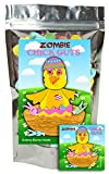 Zombie Chick Guts Gummy Bunny Heads Funny Easter Basket Gag Birthday Girl, Boy and Teens Candy Gift