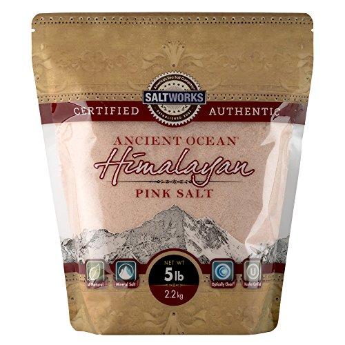 SaltWorks Ancient Ocean Himalayan Pink Salt, Extra Fine Grain, 5 Pound Bag