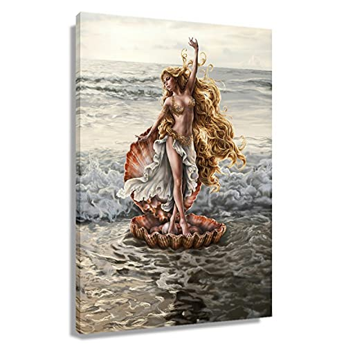 WHANQING Greek Mythology Aphrodite Poster Painting Canvas Art for Bedroom Rectangular Farmhouse Wall Decorative Artwork for Kitchen Decoration Print