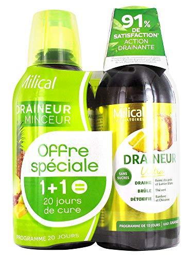 Milical Draineur Ultra Lot de 2 x 500 ml - Ananas