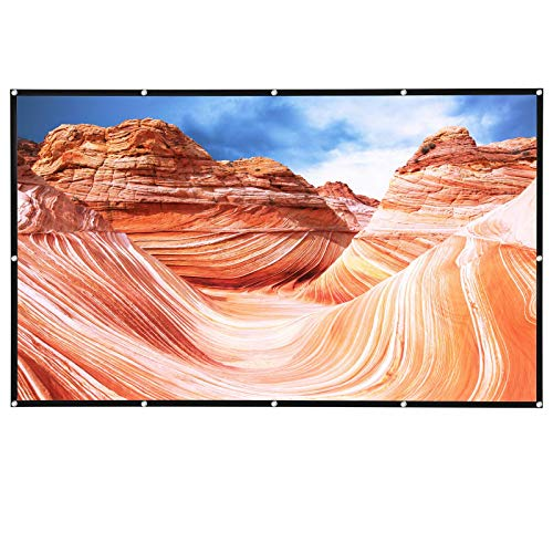 Projektor-Leinwand 100 Zoll 4K Filme 16:9 HD Projektionsleinwand faltbar für Heimkino Indoor Outdoor