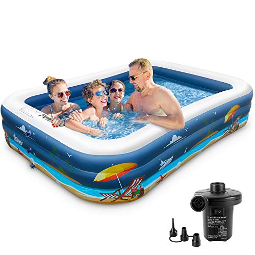 (35% OFF) Inflatable Swimming Pool W/ Electric Pump $68.89 – Coupon Code