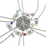 GuDeKe Colgante de Rebanada de Pizza, Collares de la Amistad con Grabado BBF Collar de Diamantes de imitación Multicolor para la Mejor joyería del Amigo