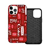 Phone Case Soft Drink Red Coke iPhone 12/12 Pro/12 Pro Max /12 Mini(2020),Liquid TPU Silicone Gel Full Body Shockproof Drop Protection Case