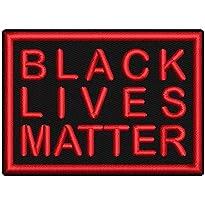 Aufnäher -Black Lives Matter- ca. 7x5cm Farbe: schwarz-rot, von Wolfszeit