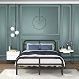 ONEMO 14 Inch Full Bed Frame with Headboard and Footboard Heavy Duty Metal Full Size Platform Bed Frame 3000lbs Strengthen Support No Box Spring Needed No Noise Non-Slip