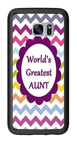 Chevron Rainbow Greatest Aunt for Samsung Galaxy S7 Edge G935 Case Cover by Atomic Market