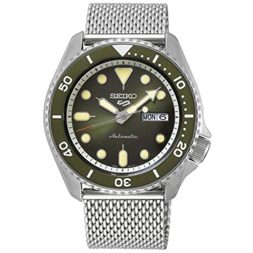Seiko Herren Analog Automatik Uhr mit Edelstahl Armband SRPD75K1